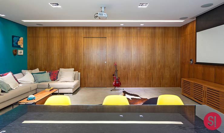 Apartamento CM: Sala de jantar  por Botti Arquitetura e Interiores-Natália Botelho,