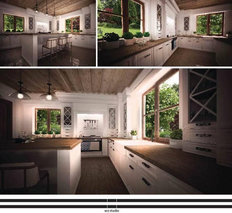 Dom pod Warszawą: styl , w kategorii Kuchnia zaprojektowany przez WZ STUDIO