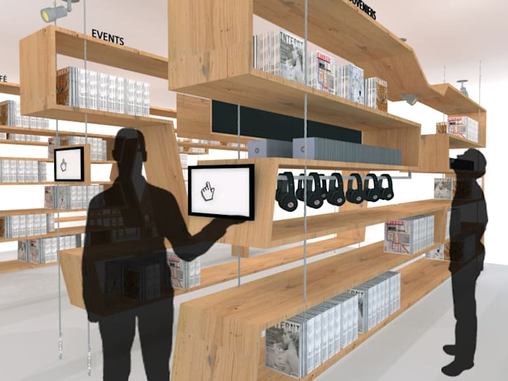 Design Cafe: modern Media room by Studio Ezube