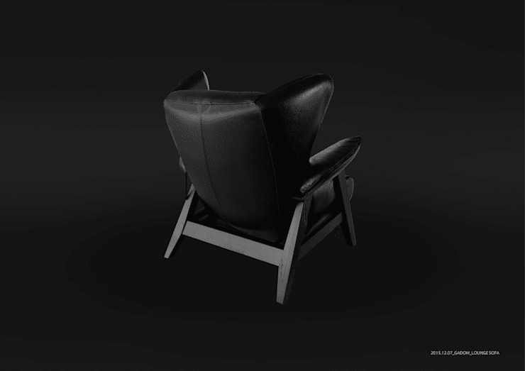 GADOW Lounge Sofa: 西村章デザイン事務所が手掛けたリビングルームです。
