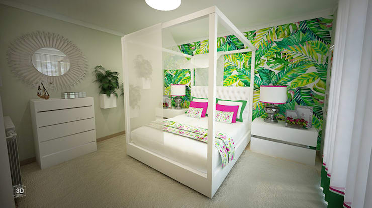 BLOSSOM: Quartos  por GRAÇA Decoração de Interiores
