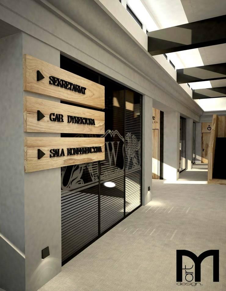 Projekt Banku: styl , w kategorii Przestrzenie biurowe i magazynowe zaprojektowany przez MART-DESIGN