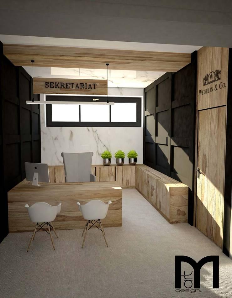 Sekretariat do Gabinetu Dyrektora: styl , w kategorii Przestrzenie biurowe i magazynowe zaprojektowany przez MART-DESIGN