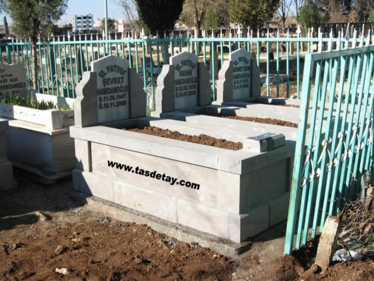 taş detay – mermer mezar:  tarz