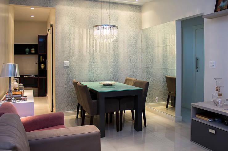 餐廳 by Ana Adriano Design de Interiores, 隨意取材風 木頭 Wood effect