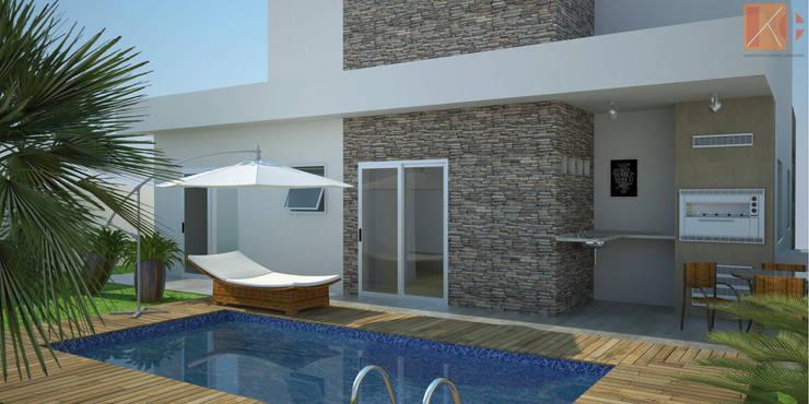 Casa SS: Piscinas  por KC ARQUITETURA urbanismo e design,