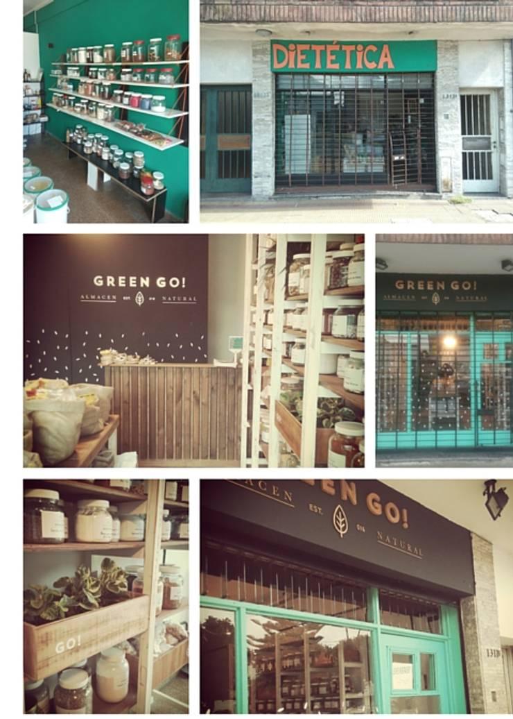 ANTES y DESPUES: Oficinas y Tiendas de estilo  por SBG Estudio