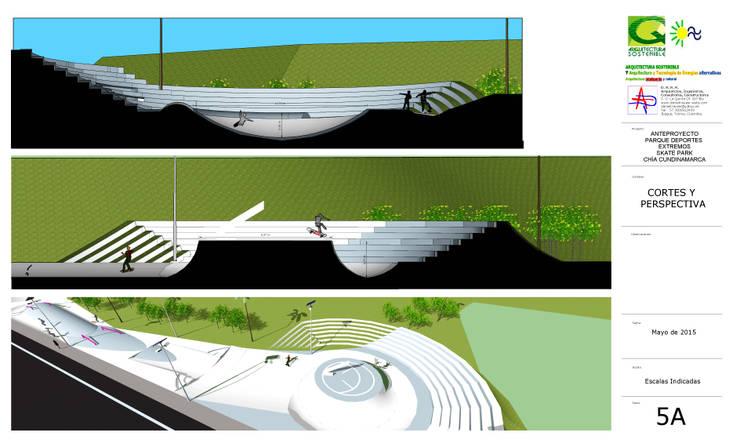 PARQUE DE DEPORTES EXTREMOS:  de estilo  por arquitectura sostenible colombia