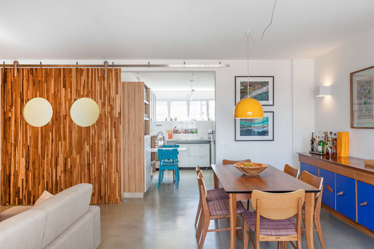 Apartamento do Amigo Calculista: Salas de jantar modernas por Nautilo Arquitetura & Gerenciamento