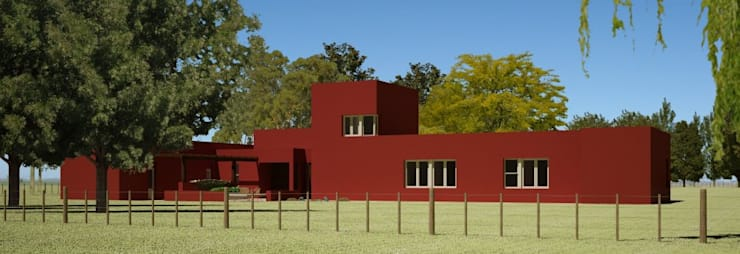 VIVIENDA UNIFAMILIAR EN <q>LA NORIA</q>:  de estilo  por Arquitectos Moreno,