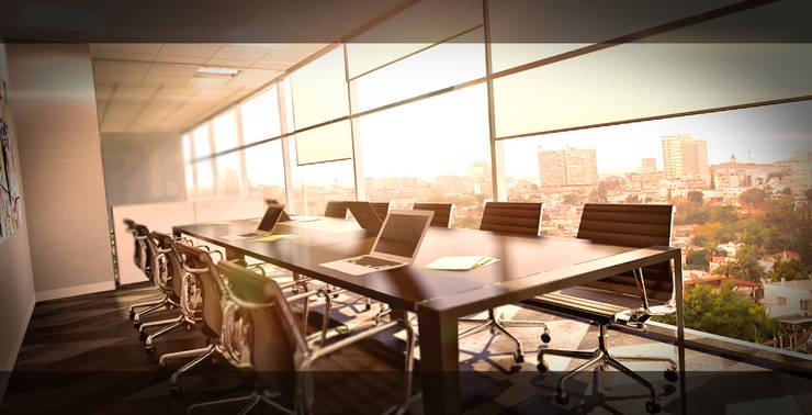 Office Luanda: Escritórios  por Antony Simões Studio