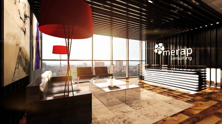 Luanda Office: Escritórios  por Antony Simões Studio