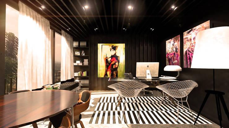 Benguela Office: Escritórios  por Antony Simões Studio
