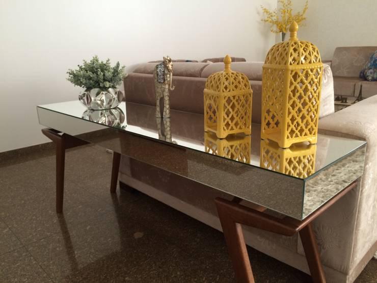 Reforma em apartamento: Salas de estar  por Beatrice Oliveira - Tricelle Home, Decor e Design,
