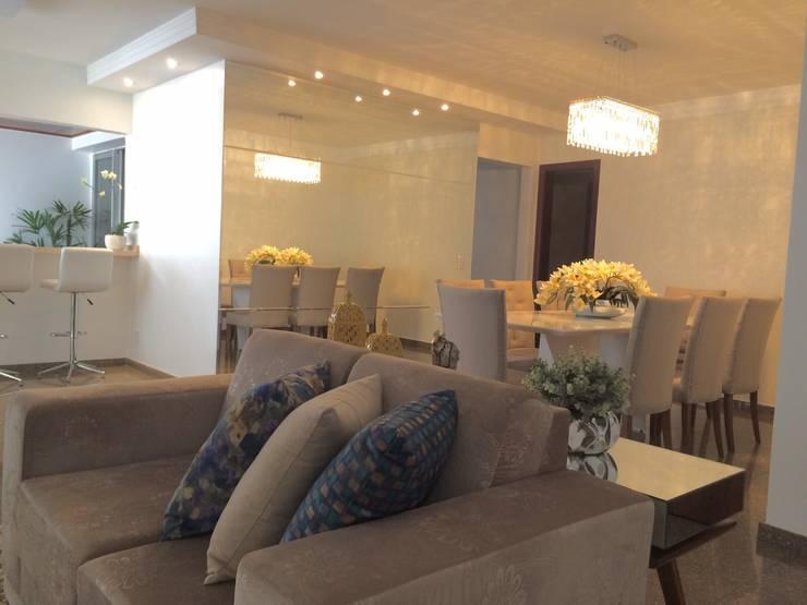 Reforma em apartamento: Salas de jantar  por Beatrice Oliveira - Tricelle Home, Decor e Design,
