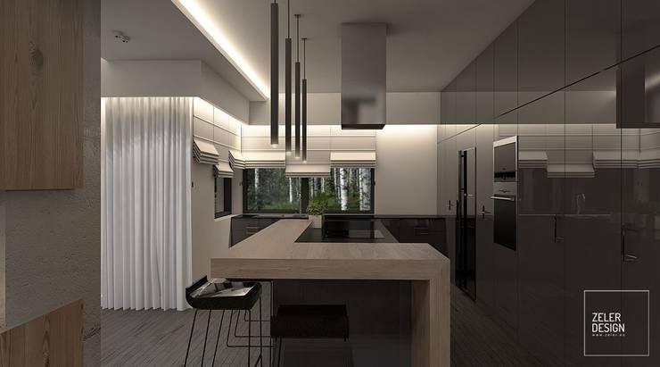 Prosta przestrzeń - kuchnia: styl , w kategorii Kuchnia zaprojektowany przez Zeler Design