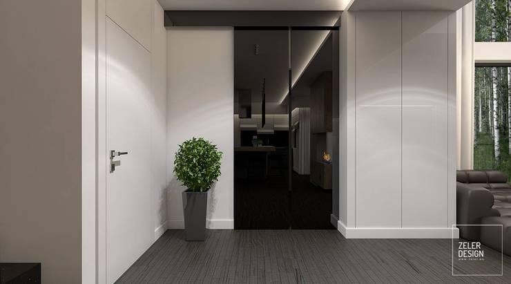 Prosta przestrzeń - holl: styl , w kategorii Korytarz, przedpokój zaprojektowany przez Zeler Design