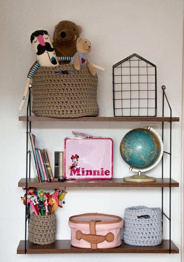 Kosze i koszyki ze sznura: styl , w kategorii Pokój dziecięcy zaprojektowany przez zRĘCZNA ROBOTA