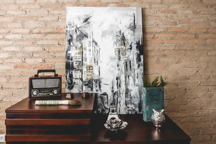 Apartamento – S.B.Campo: Salas de estar  por Carmen Anjos Arquitetura Ltda.,Eclético Madeira maciça Multi colorido