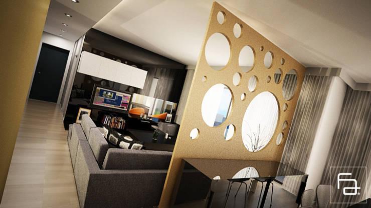 Moradia Boa Nova: Salas de estar  por Espaço FA – Arquitetura, Interiores e Decoração