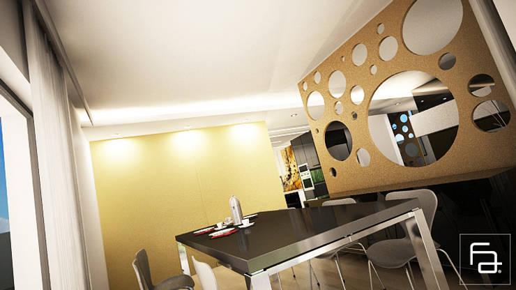 Moradia Boa Nova: Salas de jantar  por Espaço FA – Arquitetura, Interiores e Decoração