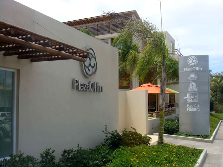 Plaza Ollin : Casas de estilo  por José Vigil Arquitectos