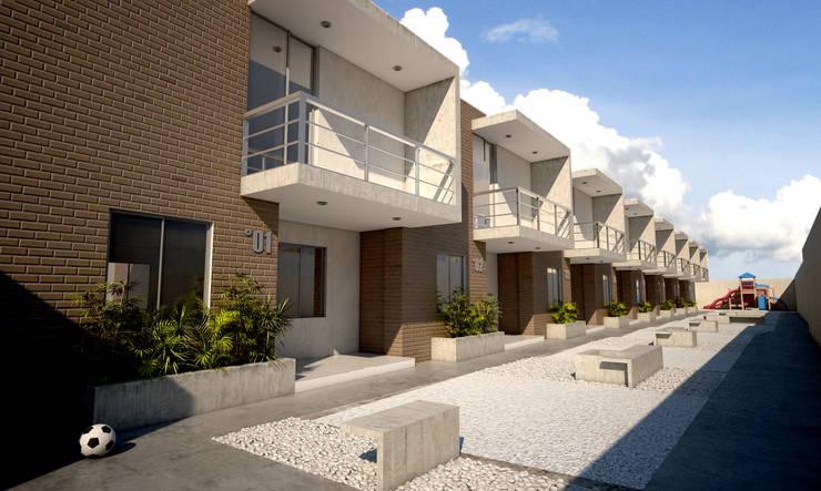 Дома в . Автор – Kubos + Arquitectos