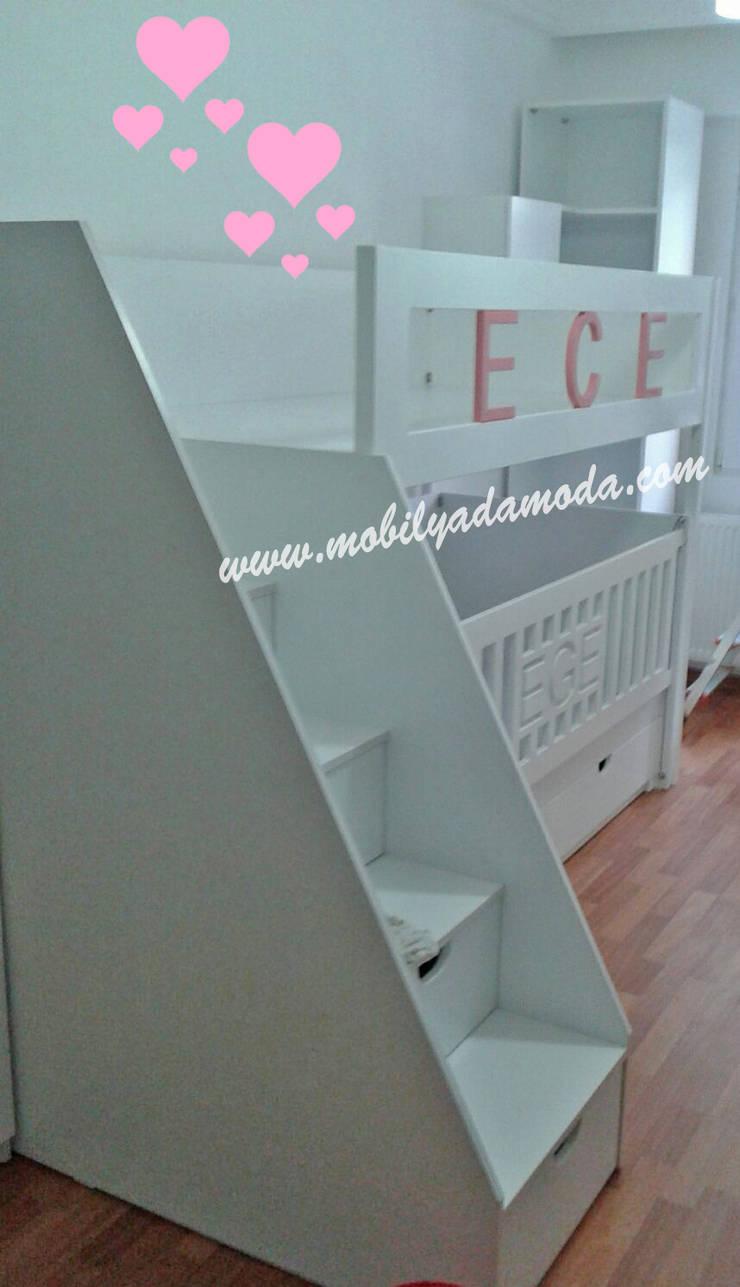 MOBİLYADA MODA  – Ece'nin Odası/İstanbul:  tarz Çocuk Odası, Modern Ahşap Ahşap rengi