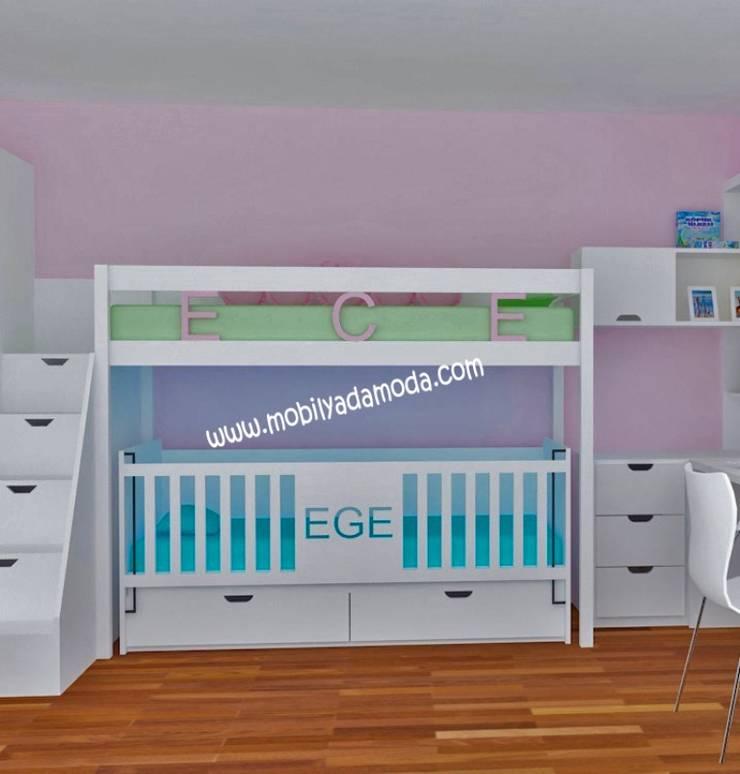 MOBİLYADA MODA  – Ece'nin Ranzası:  tarz Çocuk Odası, Modern Ahşap Ahşap rengi