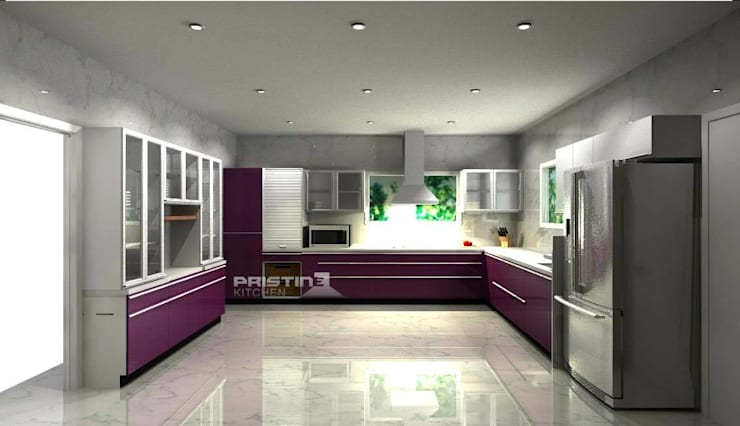 3D kitchen Designs:  Kitchen by Pristine Kitchen