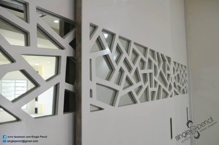 Suresh, vijayanagar: modern Bedroom by single pencil architects & interior designers