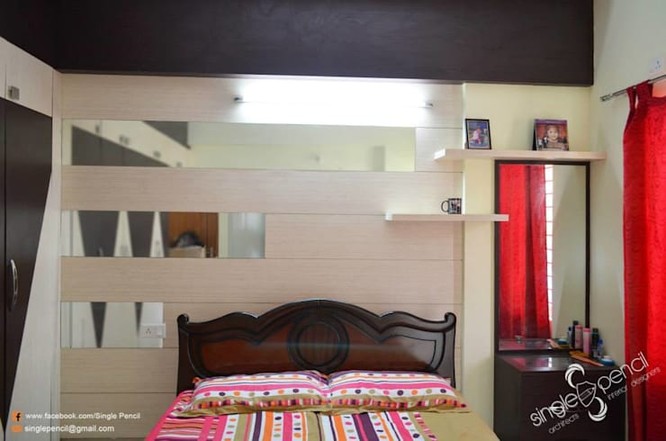 Ratna prabhu: modern Bedroom by single pencil architects & interior designers