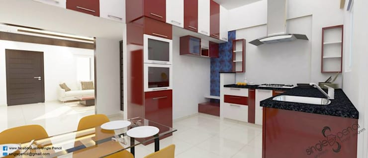 Naveen:  Kitchen by single pencil architects & interior designers
