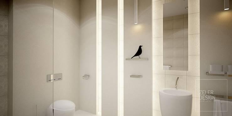 bathroom visualization - part two: styl , w kategorii  zaprojektowany przez Zeler Design