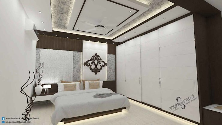 Satyanarayana: modern Bedroom by single pencil architects & interior designers