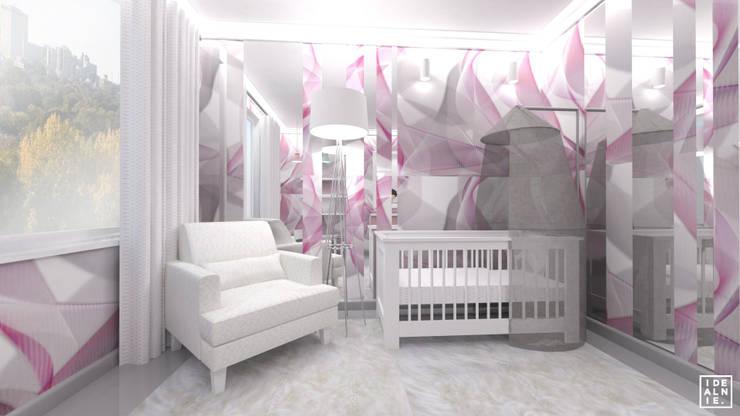 POKÓJ DZIECIĘCY - dziewczynka: styl , w kategorii Pokój dziecięcy zaprojektowany przez IDEALNIE Pracownia Projektowa,Nowoczesny