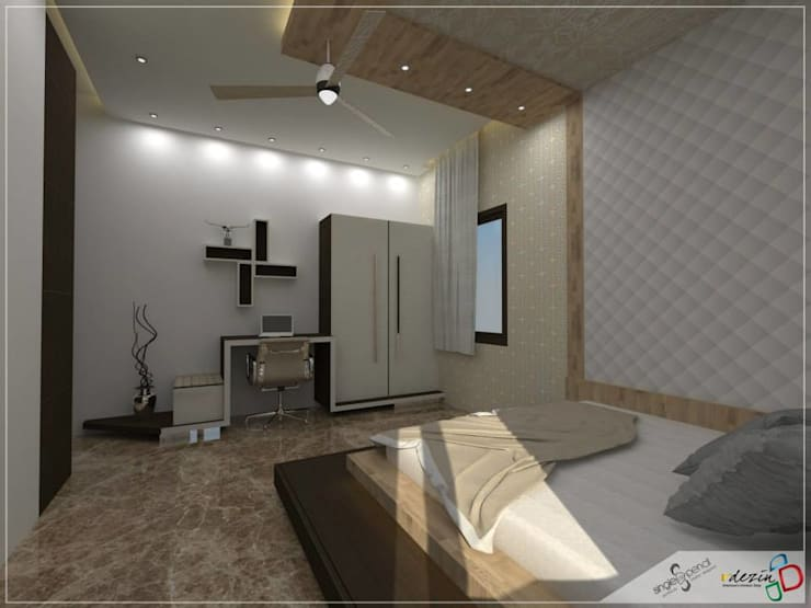 Prabhakar: modern Bedroom by single pencil architects & interior designers