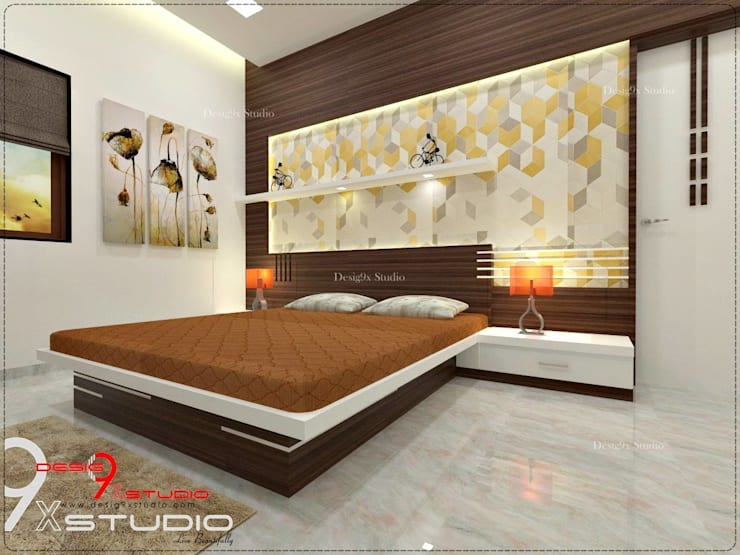 Bedroom designs:  Bedroom by Desig9x Studio,