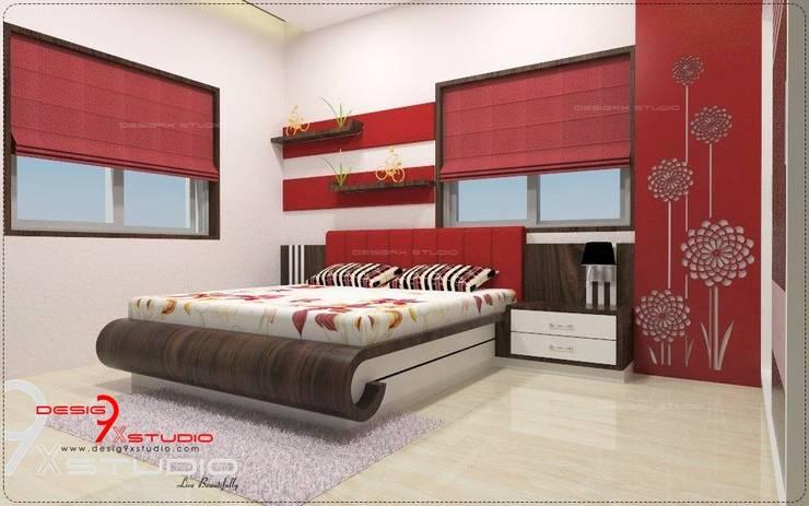 Bedroom designs:  Bedroom by Desig9x Studio