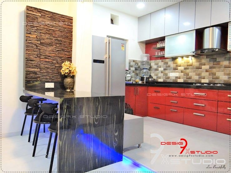 Kitchen and Dining area designs: modern Kitchen by Desig9x Studio