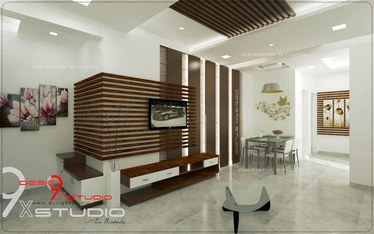 Living Area Designs:  Living room by Desig9x Studio