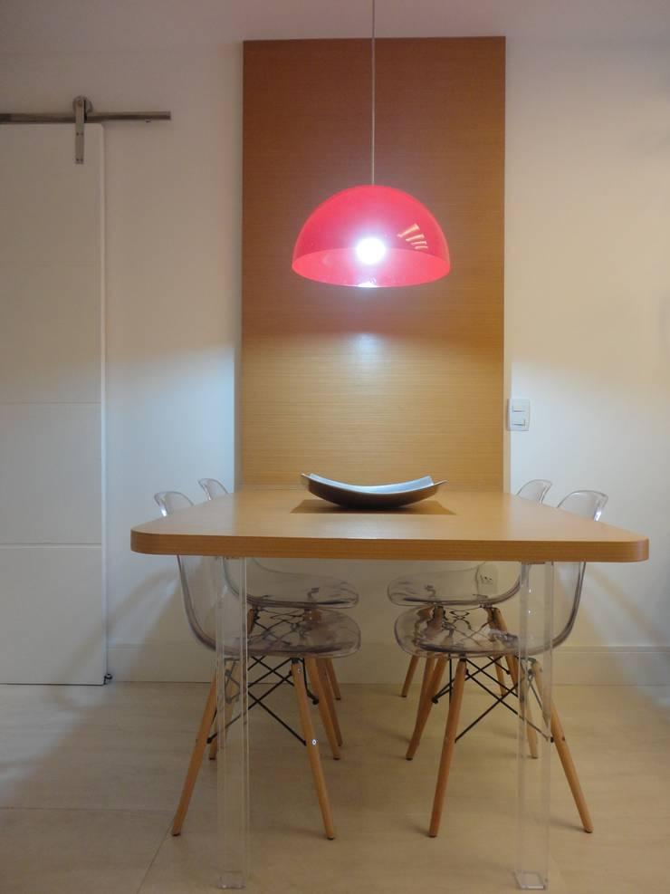 ห้องทานข้าว โดย Maria Helena Torres Arquitetura e Design, โมเดิร์น