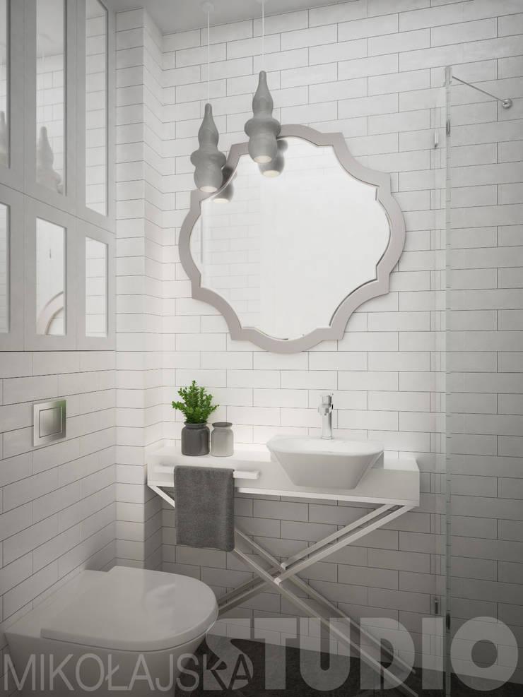 glamour-loft bathroom: styl , w kategorii  zaprojektowany przez MIKOŁAJSKAstudio