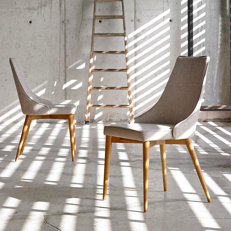 Cadeiras  Chairs www.intense-mobiliario.com  Spirity http://intense-mobiliario.com/product.php?id_product=8841: Sala de jantar  por Intense mobiliário e interiores;
