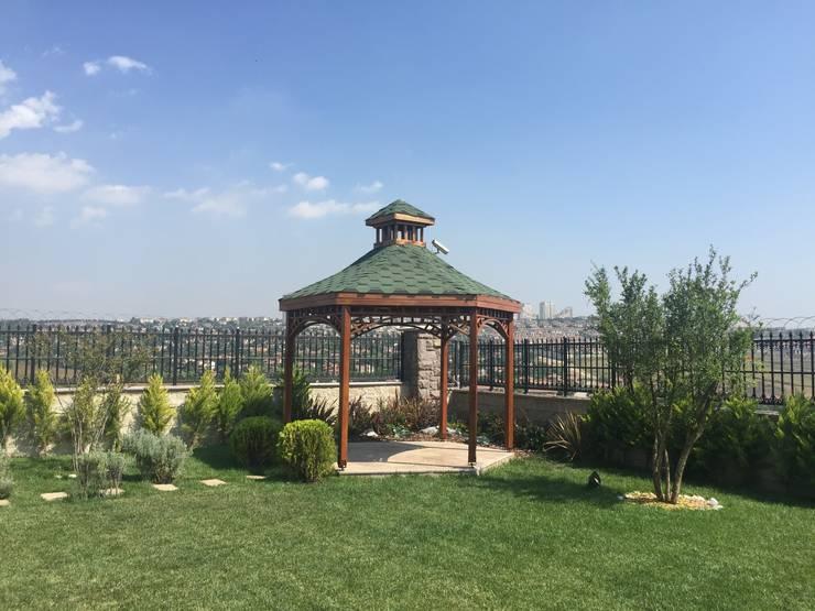 AYTÜL TEMİZ LANDSCAPE DESIGN – TOSKANA VADİSİ- VİLLA PEYZAJ PROJE&UYGULAMA // TOSKANA VADISI - VILLA LANDSCAPE PROJECT&APPLICATION:  tarz Bahçe, Modern