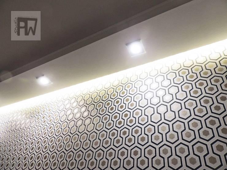 Geometryczna tapeta: styl , w kategorii  zaprojektowany przez PTW Studio,Nowoczesny