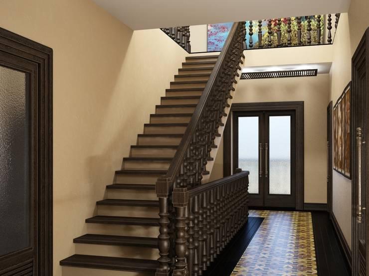 Дом в вьетнамском стиле: Коридор и прихожая в . Автор – Студия дизайна 'New Art'