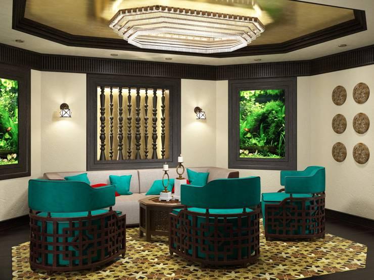 asian Living room by Студия дизайна 'New Art'