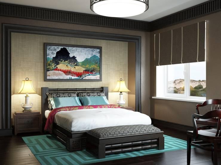 asian Bedroom by Студия дизайна 'New Art'