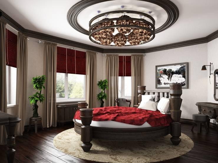 Дом в вьетнамском стиле: Спальни в . Автор – Студия дизайна 'New Art'